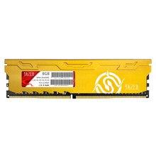 JUHOR PC bellek DDR4 8GB 2666MHz 1.35V 288 Pin PC bilgisayar masaüstü bellek modülü RAM ısı emici bellek sopa destek XMP2.0