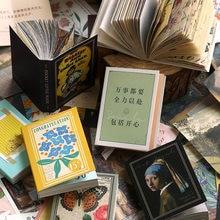 100 arkuszy Vintage stare bajki kwiat notatnik pamiętnik stacjonarne płatki księga gości materiał dekoracyjny kieszeń mała książka