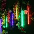 8 шт./компл. 30 см 144LED метр Душ Дождь светильник s падающая звезда сосулька снег рождественская елка струнный светильник