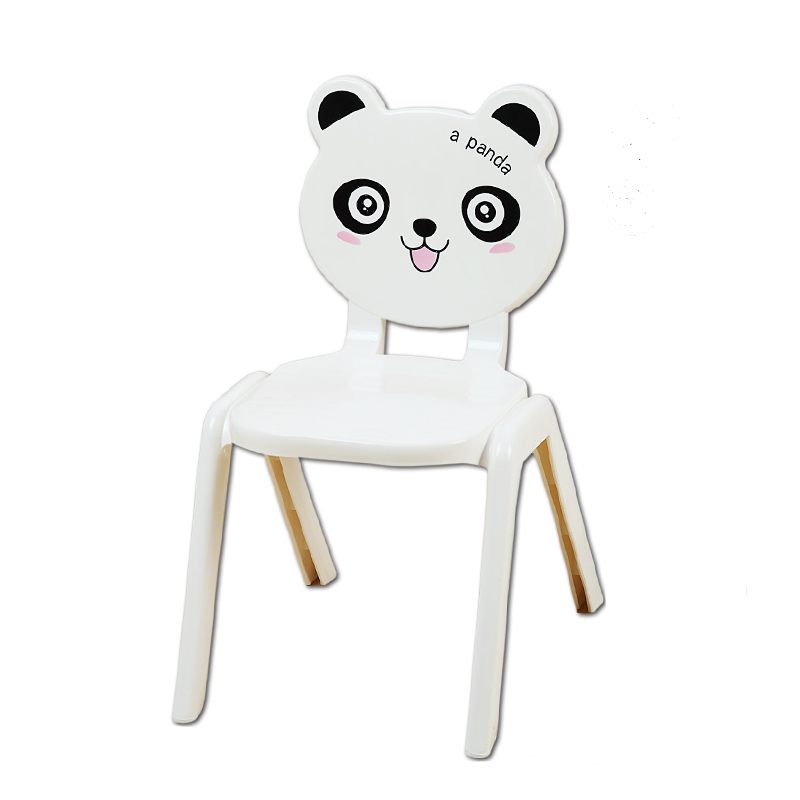 Children's Chair Creative Cartoon Home Lovely Plastic Cartoon Bench Children's Kindergarten Bench Is A Non Slip Chair Back Seat