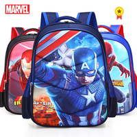 Marvel Captain America Iron Man Spiderman Girl Baby Children Nursery School Bags Bagpack Schoolbags Canvas Kids Student Backpack