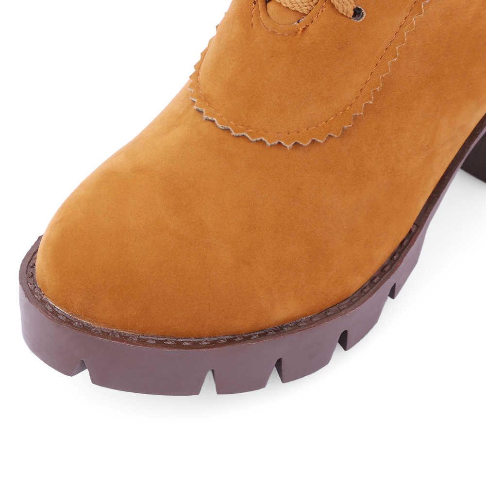 KARINLUNA 34-43 ใหม่ฤดูใบไม้ร่วง Elegant รองเท้าผู้หญิงสูงส้นรองเท้าผู้หญิง LACE-up Non-SLIP เข่ารองเท้าบูทสูง 2019