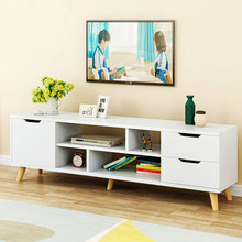 Modern Living Room TV Stand With Three Cabinet Shelf Drawer Storage Television Stands Furniture TV Cabinet Table Coffee Table