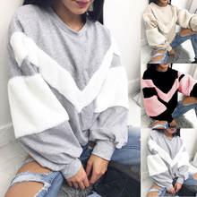 Goocheer Новый Теплый Женский плюшевый свитер сшитый пуловер