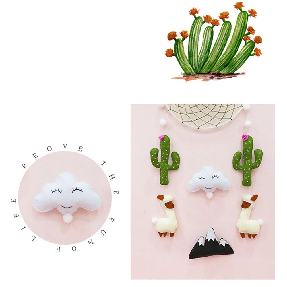 DIY Handcraft Non-Woven Dream Catcher Flower Felt Making Kit Handmade Cactus Bed Bell Toy For Children's Room Home Decor