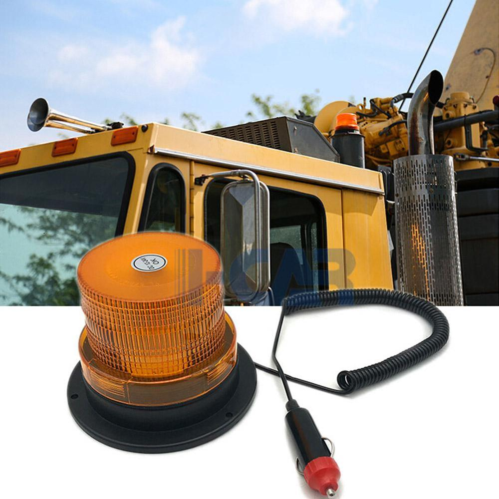 Car Light 12V / 24V LED Car Truck Strobe Warning Light Police LED Flashing Emergency Light With Magnetic Beacon Light Flicker
