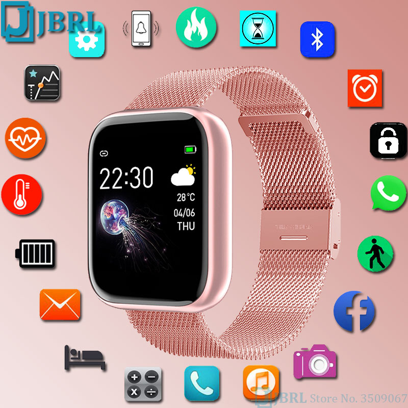 2020 SmartWatch Steel Women Men Fitness Tracker Sport Watch Ladies Wrist Watch For Andoid IOS Waterproof Smart watch Clock Hours