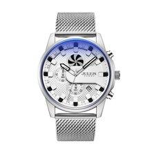 Julius Men's Watch Stainless Steel Watch JAH-128 Boy Band Bracelet Wrist Auto Date Chronograph Japan Mov't Business Sports Box