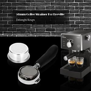 Фильтр для кофе без давления 51 мм корзина для Breville Delonghi фильтр Krups продукты для кофе кухонные аксессуары