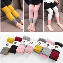 New Spring Autumn Warm Girl Leggings Knitted Cotton Baby Girls Pants Mix Color Children Kids Trousers For 1-8T cheap VEENIBEAR Polyester Acetate CN(Origin) Straight Ruched NONE Washed Ankle-length Fits true to size take your normal size