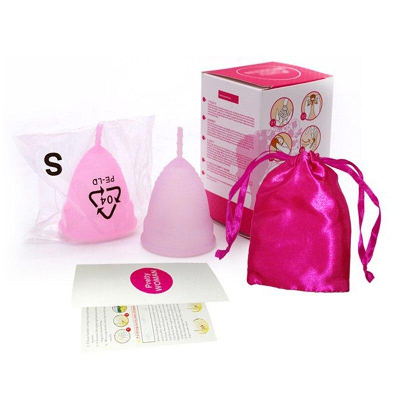Feminine Medical Grade Silicone Menstrual Cup Feminine Hygiene Copo Menstrual de Silicone Medica Reusable Menstrual Soft Cup