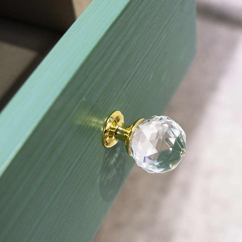 crystal ball Handles for Furniture Cabinet Kitchen Handles Drawer Knobs Desk Drawer Handle Cupboard Pulls