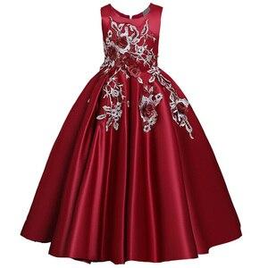 Image 4 - Robe de concours en dentelle pour filles, longue, tenue de soirée, de mariage, de fête danniversaire, de Communion, de pétales