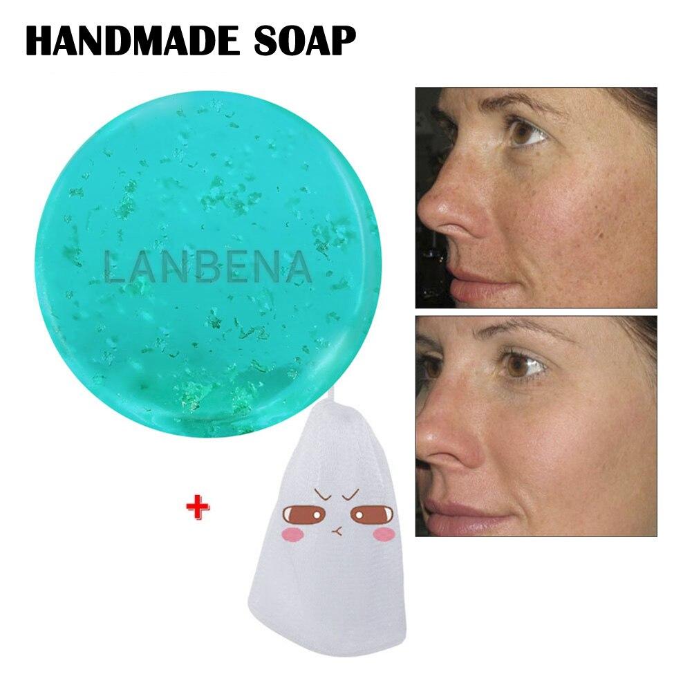 Hyaluronic Acid Facial Cleansing Handmade Soap Moisturizing Whitening Soap Face Beauty Care KG66