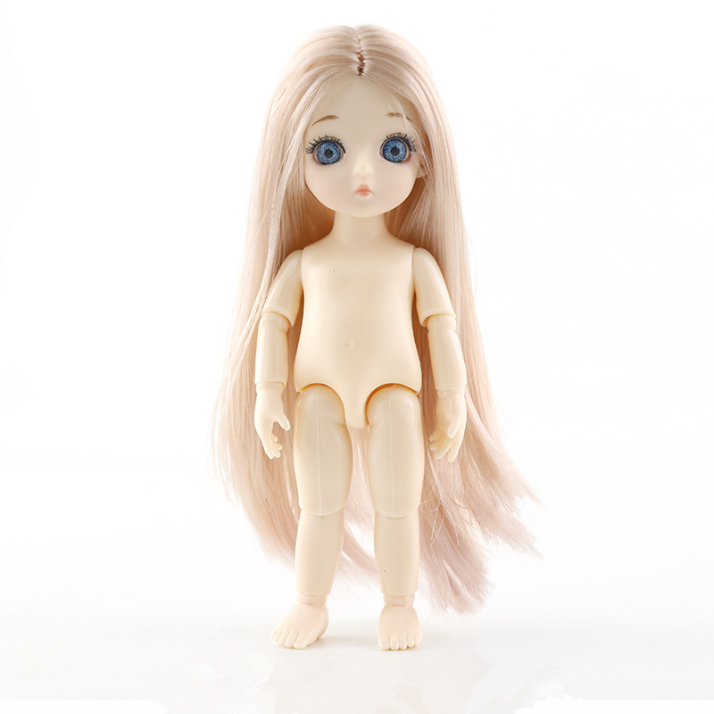 Baby Dolls13 Jointed Moveable BJD Baby Doll Naked Nude Body 15cm Blue Eyes Figma Fashion Dolls Toy For Girls Gift DIY Toys
