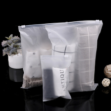 Plastic Pouch Package Clothing Self-Stocks-Bags Zip-Lock Dress Zipper Reusable Frosted