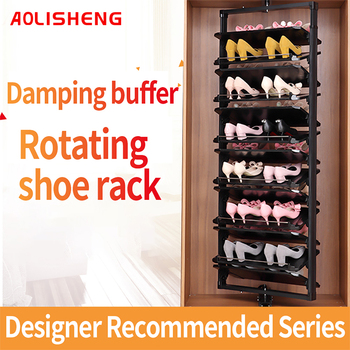 360 degree  rotating shoe rack household multi-layer adjustable adjustable storage telescopic rotary shoe cabinet hardware [vk] rcl 10 1 cb 12 cr 10 layer 10 knife 12 gear 360 degree band switch