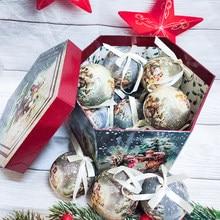 Boules d'arbre de noël 8cm, 7 pièces, 14 pièces, pendentif, boule suspendue, décorations en plastique, pour la maison, cadeau pour vacances, nouvel an