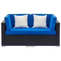 2 pcs/set Patio Furniture Sets Rattan Sofa Chair Table Wicker Garden Furniture Coffee Table Rattan Sofa Chair Stool