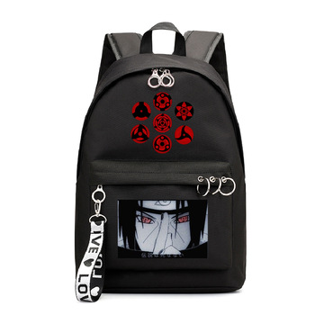 Anime Naruto Backpack Schoolbag Akatsuki Itachi Sharingan Naruto Girls Laptop Bags Naruto Travel Bag Rucksack for Teens Women