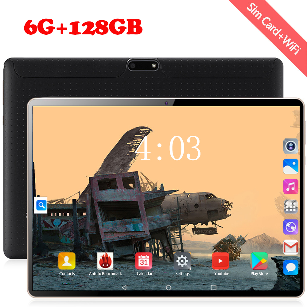2020 4G LTE Android 8.0 OS 10.1 Inch Tablet Octa Core 6GB RAM 64GB 128GB ROM 1280*800 Dual SIM Cards Tablet 10 Tablet Android
