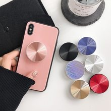 ABS Universal Popular Colorful Mobile Phone Accessorie Round Shaped Folding Stand Holder for IPhone Samsung Huawei Bracket Mount