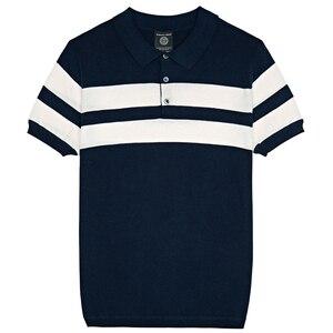 Image 5 - KUEGOU 2020 קיץ סרוג 100% כותנה פסים פולו חולצת גברים קצר שרוול Slim Fit Poloshirt לזכר ללבוש מותג בגדים 16972