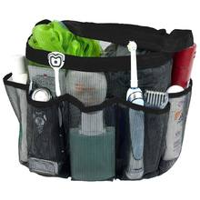 Mesh Douche Caddy, quick Dry Douche Draagtas Oxford Opknoping Toilettas En Bad Organizer Met 8 Opbergvakken Voor Shampo(China)