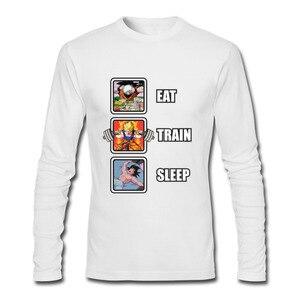 Image 5 - Лидер продаж, программист, Dragon Ball Eat Train Sleep Goku Repeat, 3d футболка с длинным рукавом и круглым вырезом, забавные зимние футболки для взрослых, футболка