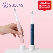 Nuevo cepillo de dientes eléctrico sónico XIAOMI MIJIA PINJING EX3, cepillo DuPont, limpiador blanqueador Ultra sónico, resistente al agua, 31000 veces