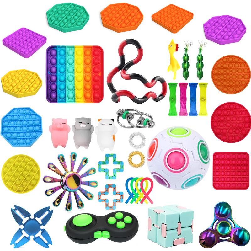 Hot Push Bubble Fidget Toy Antistress Toys For Adult Children Push Bubble Figet Sensory Toy Squishy Jouet Pour Autiste антистрес