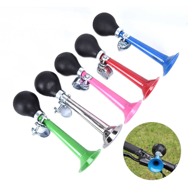 1pc Bicycle Bike Cycling Air Horn Bell Alarm Retro Metal Twist Bugle Rubber B/_B1