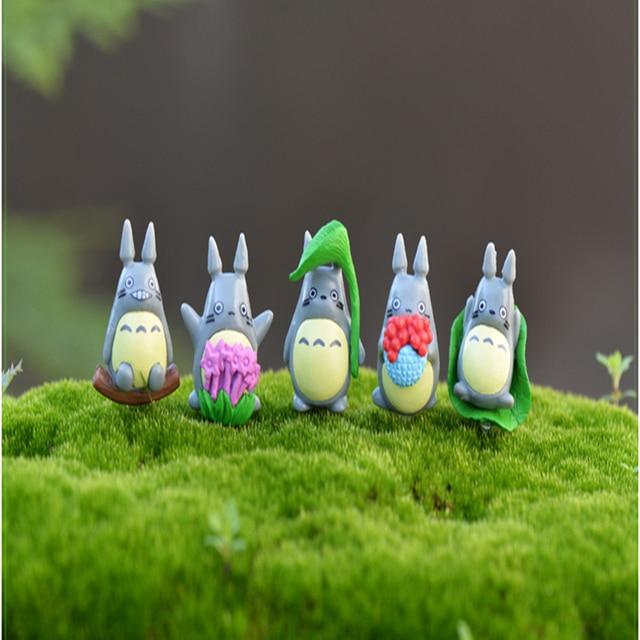 10 aléatoire un, mon voisin Totoro figurine cadeaux poupée mignon figurines miniatures jouets 1-3cm PVC plastique japonais anime1601129
