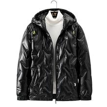 Puffer Jacket Coat Winter Mens Brand New Warm Male Outerwear Glossy High-Street