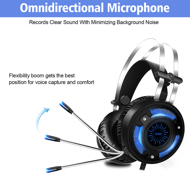ALWUP A6 Gaming Headphones for Computer PC Games 5