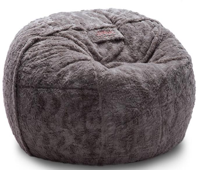 200cm Large Size Warm Wool Fur Lazy Couch Creative Double Tatami Workshop Floor Adults Kids Bean Bag Chair Bed Sofa Washable