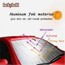 Luckybobi Automobile Sunshade Cover Car Windshield Snow Sun Shade Waterproof Protector Cover Car Front Windscreen Cover
