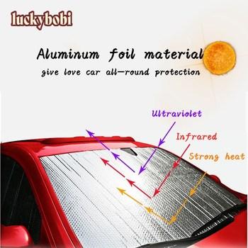 Luckybobi samochodowa osłona przeciwsłoneczna przednia szyba samochodu śnieg parasol przeciwsłoneczny wodoodporny ochraniacz pokrywa przednia szyba samochodu tanie i dobre opinie CN (pochodzenie) Aluminum foil ZY01