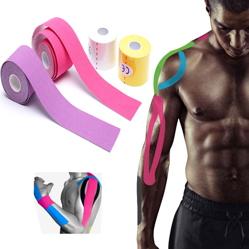 5cmx5m Muscle Tape Roll Strain Strap Sports Fitness Protection Adhesive Bandage Sports Goods