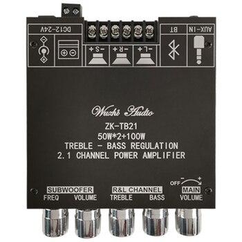 ZK-TB21 TPA3116D2 Bluetooth 5.0 Subwoofer Amplifier Board 50WX2+100W 2.1 Channel Power o Stereo Amplifier Board
