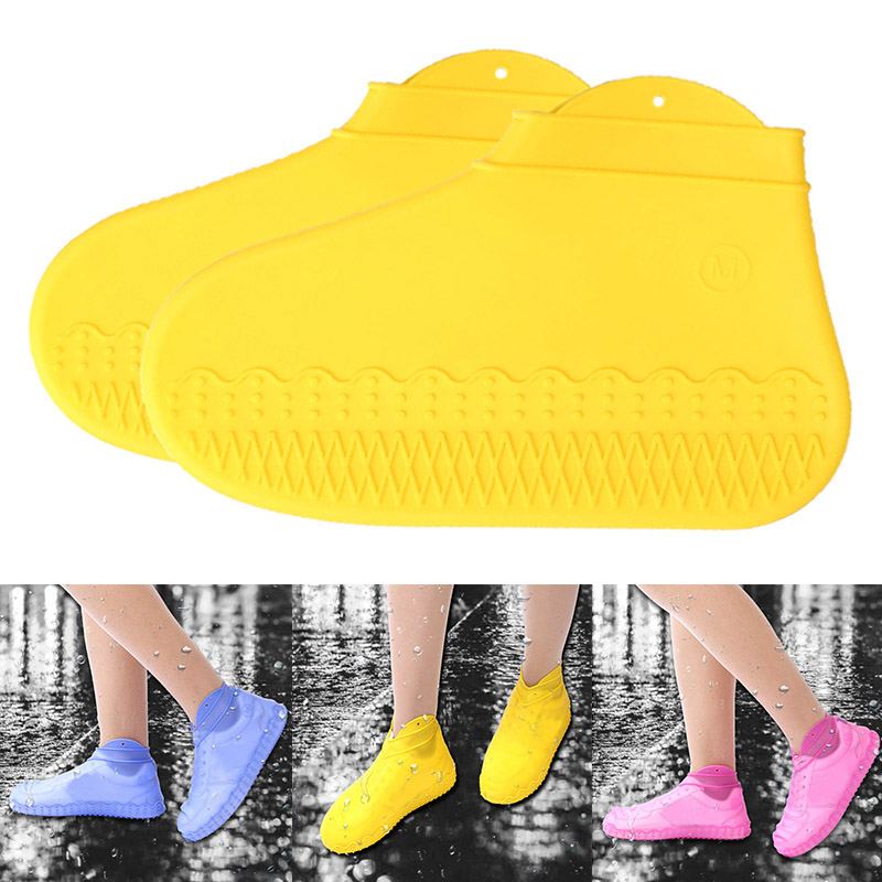 1 Pair Reusable Silicone Boot Shoe Cover Foldable Waterproof Non-Slip Overshoes Rain Protectors LBShipping