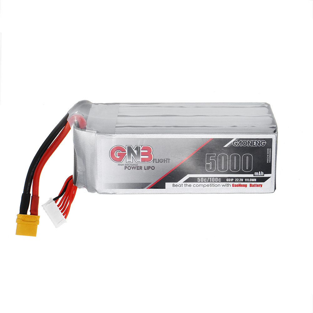 Gaoneng GNB 22.2V 5000mAh 50C 6S Lipo Battery XT60 Plug For RC Quadcopter Airplane Helicopter Car image