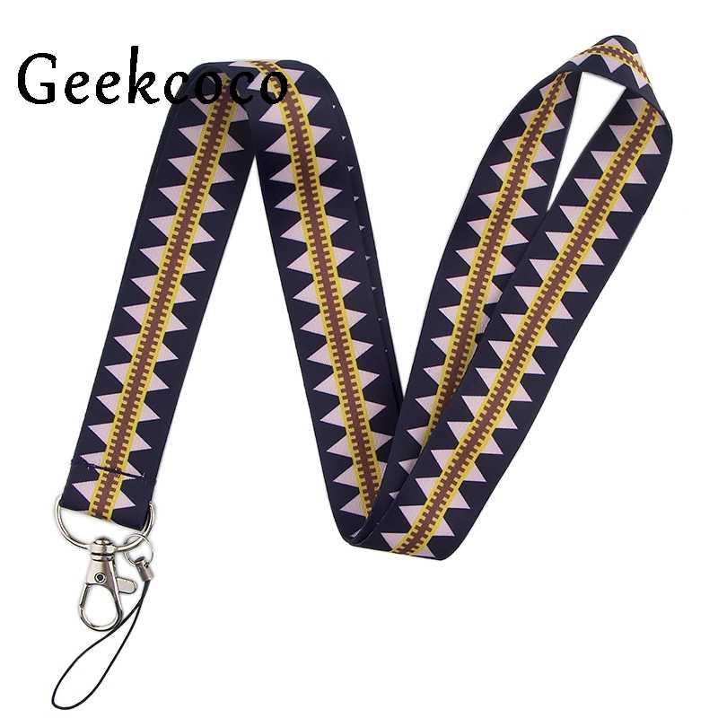 Vintage lattice keychain Accessories Safety Breakaway Mobile Phone ID Badge Holder keys Strap Neck lanyard Camera J0529