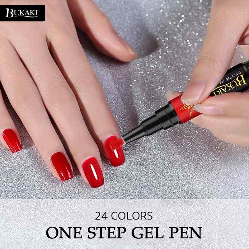BUKAKI acheter 2 plus 5% Off facile 3 en 1 Gel vernis à ongles stylo 3 pièces Nail Art conseils UV Gel vernis hybride sucre ongles colle une étape