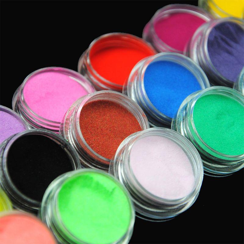 18 Pcs/set DIY Epoxy Crafts Making Tools Shiny Powder Luminous Shine Sequins Filler