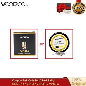 Oryginalny Voopoo PnP RBA cewka DIY MTL pół-dl odporność PnP-RBA Prebuilt drut 0 6ohm Rreplacement rdzeń dla VINCI VINCI R VINCI X tanie i dobre opinie Voopoo PnP-RBA Vape Coil VINCI VINCI R VINCI X DS NC