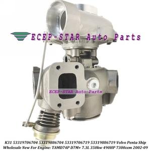 Turbo K31 53319706704, 53319886704, 53319706719, 53319886719, 3837691, 3827195 para Volvo Penta barco TAMD74P D7M + 7.3L 350kw 490HP 02-