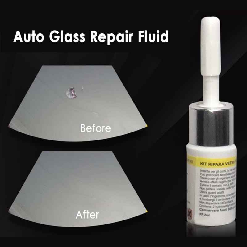 1pc15ml Automotive Glass Repair Fluid Car Window Glass Crack Chip Repair Tool Kit Windscreen Glass Scratch Crack Car Accessories