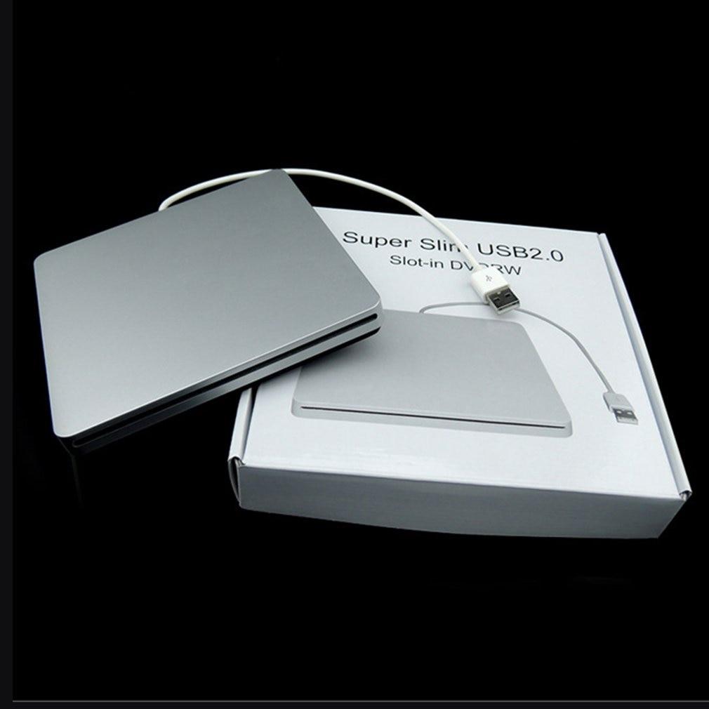 Laptop Type Suction Super Slim USB 2.0 Slot In External DVD Burner DVD-RW External Drives Box Enclosure Case(only Case)