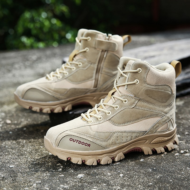 Hiking-Shoes Tactical-Boots Desert Military-Combat Climbing Outdoor Training Sports Non-Slip title=